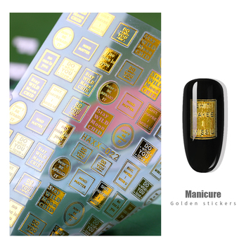 1pc 3d letter Nail Art sticker nail decal gold letters black words character nail adhesive sticker decals nails decoration diy 1pc letter nail sticker words text geometric 3d nail slider decals manicure nail art adhesive stickers tips nail art decoration
