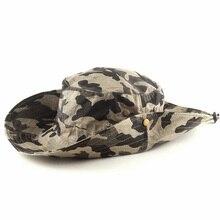 Outdoor Bucket Hats visor hat jungle camouflage broadside military tactical cap mens recreational bucket hats Free shipping