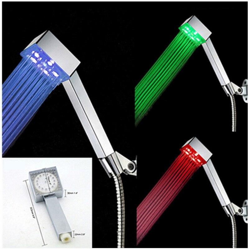 High Quality Led Light Shower Head Bathroom Rain Shower Nozzles Water Saving Handheld Shower Head The Filter Chuveiro Led