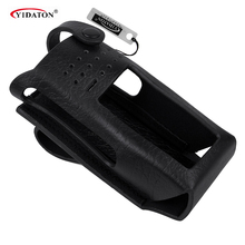 New Hard Leather Carrying Case For Motorola Two Way Radio XIRP8668 GP338D Walkie Talkie Radio Leather Case