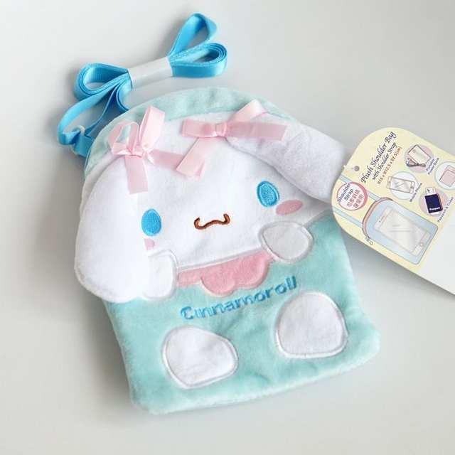 078688dbbd Cute My Melody Hello Kitty Cinnamoroll Pudding Dog Plush Bags Anime Cartoon  Purse Phone Bag Girls