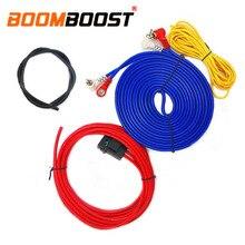 Провода, автомобильная аудиосистема проводов разъем Усилитель-сабвуфер 60 Вт и формирующая листы для кровли 4 м длина Профессиональный Динамик Установка провода Комплект кабелей