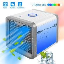 Мини USB портативный кондиционер увлажняюший очиститель 7 цветов легкий Настольный вентилятор охладитель воздуха вентилятор для офиса