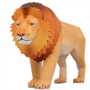 Animal Lion 3-d Paper Model DIY Manual Paper Mould Paper Mould Swing Piece Toy