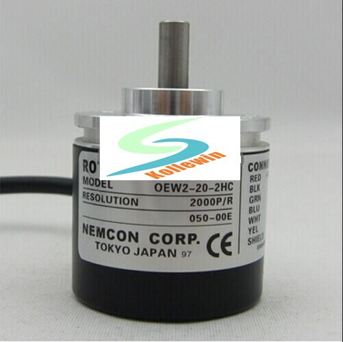 OEW2-20-2HC incremental encoder / shaft diameter 6mm / 2000P / R pulse, new in box. close control of the rotary encoder 1800 line shaft diameter 6mm outer diameter of the inner supply of oew2 18 2hc 38mm