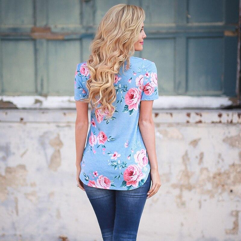 HTB1VIE8QFXXXXcBaXXXq6xXFXXXZ - 2017 Fashion Floral Print T-shirts Women Female Summer Top Casual