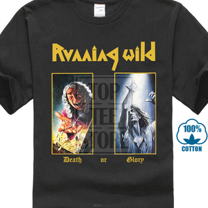 New Running Wild Death Or Glory Metal Band Men'S Black T Shirt Size S To 3Xl T Shirt High Quality Printed Mens T Shirt