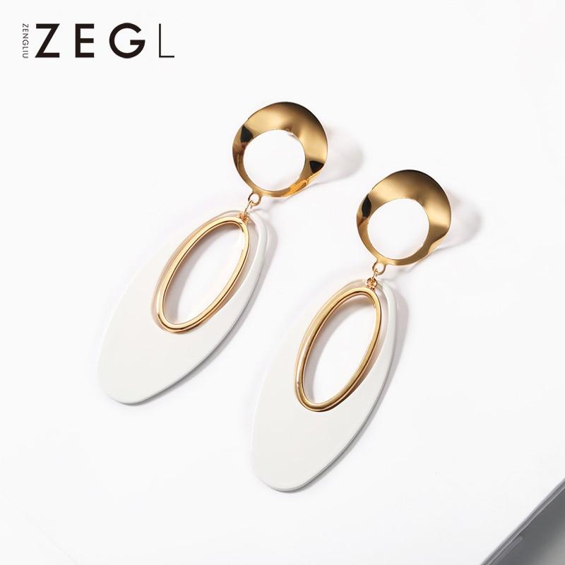 ZEGL geometric earrings trendy earrings 2019 personality exaggerated face earrings long earrings for womenZEGL geometric earrings trendy earrings 2019 personality exaggerated face earrings long earrings for women