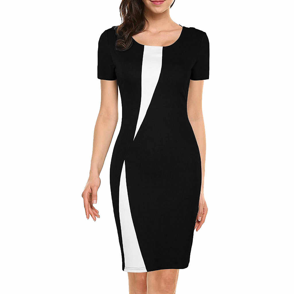 Mode Zomer Stretch Slim Potlood Jurk Sexy Dames Bodycon Werk Kantoor Jurk Vrouwen Casual Avond Party Dress Vestido De Festa
