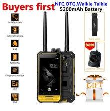 Nomu T18 IP68 Waterproof Mobile Phone Android 7.0 Quad Core 3GB RAM 32GB ROM 5200mAh NFC Walkie Talkie OTG 4G LTE PTT Smartphone