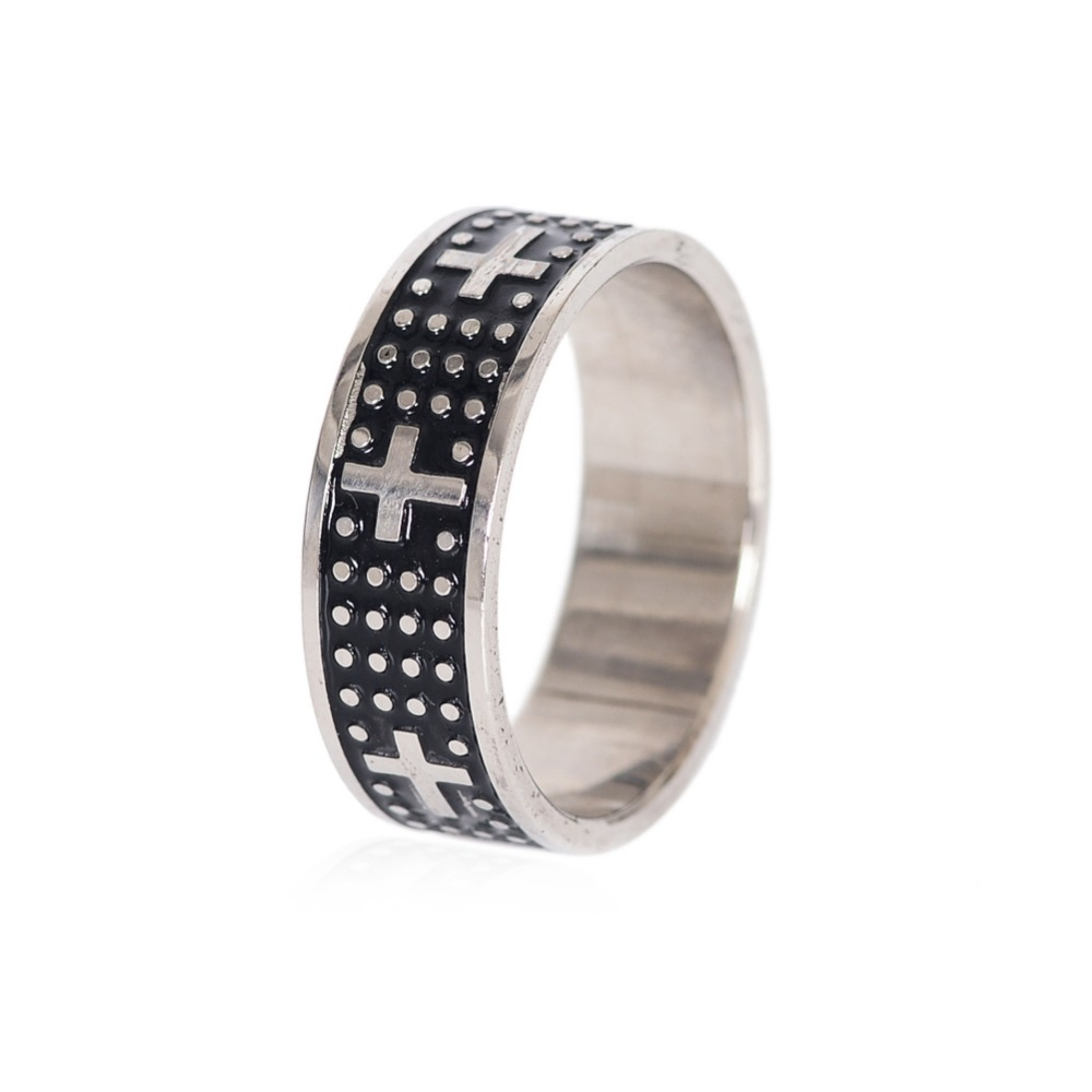 1 PC New Design Mood Band Rings Stainless Steel Cross Rivet Finger Rings Party Jewelry Fathers Day Gifts