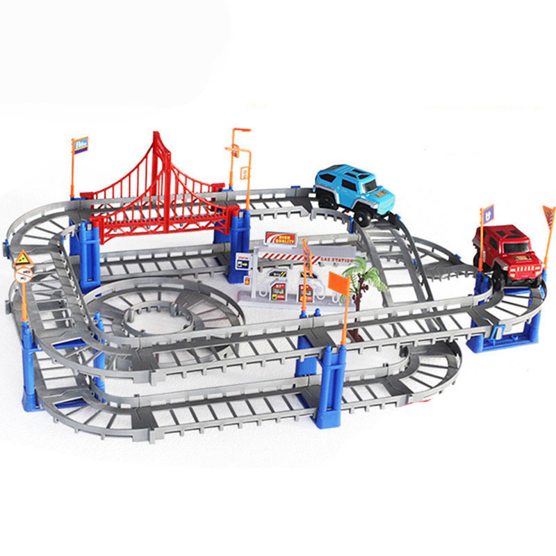 Magisk Järnvägsväg Spårleksaker DIY Variety Elektrisk Hastighet - Bilar och fordon - Foto 3