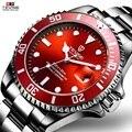 TEVISE красные часы мужские креативные светящиеся часы Дата водонепроницаемые часы мужские синие автоматические часы фиолетовые механически...