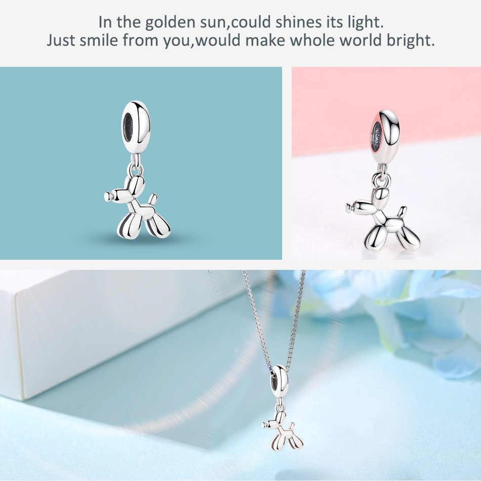 Серебряный бисер очарование fit Pandora браслет ожерелье Оригинальный 925 пробы серебро животное панда животное Кошка Собака Шарм DIY Изготовление ювелирных изделий