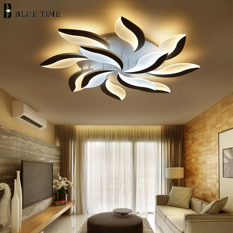 BLUETIME Acylic LED ceiling lights for living room bedroom White Simple Plafon led ceiling lamp home lighting fixtures AC85-260V