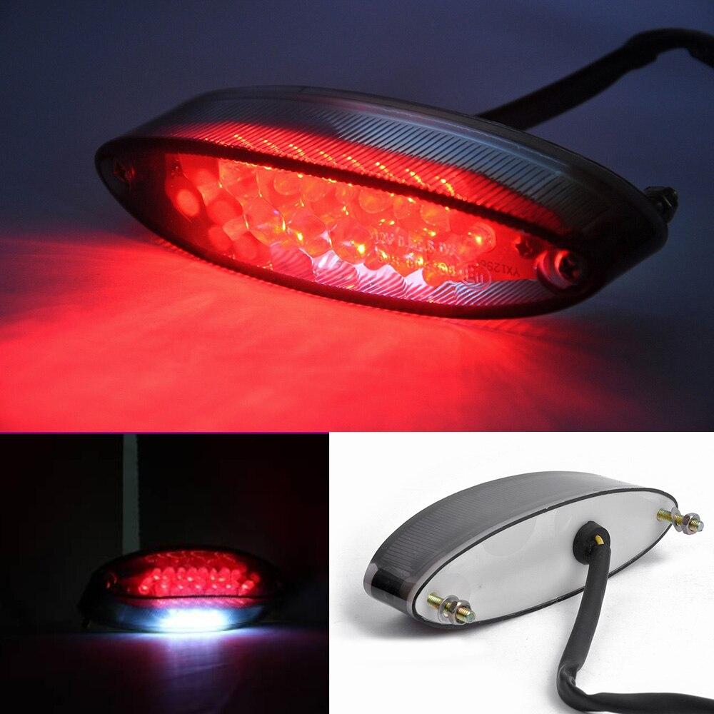 Bombilla Trasera para Motocicleta Moto 28 LED Luz Rojo Blanco 1W Ultra Brillante