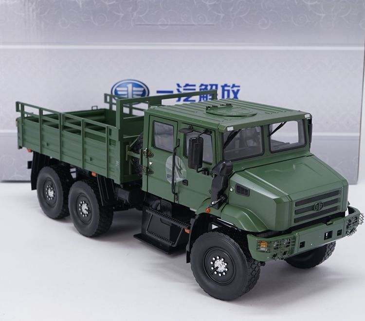 Alloy Model 1:24 Scale China FAW Jiefang MV3 Off-Road Military Tactical Truck Vehicles DieCast Toy Model Collection Decoration