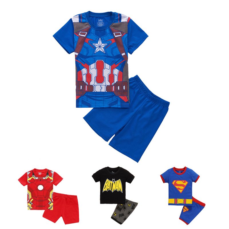Iron Man Children Boy Clothing Suit Cotton Kids Sets Captain America