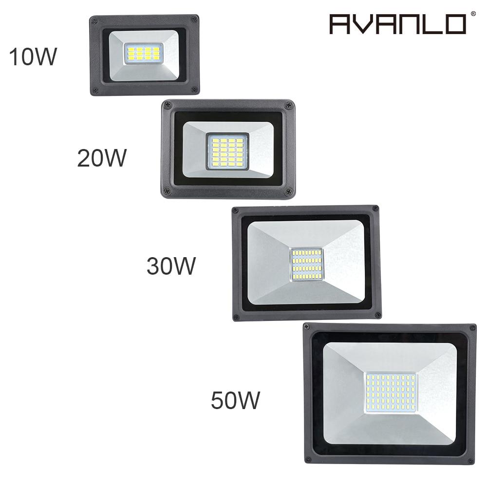 110V 220V LED FloodLight 10W 20W 30W 50W LED Flood Light Waterproof IP65 Spotlight Wall Outdoor Lighting Warm /Cold White