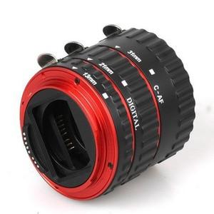 Image 2 - טבעת מאקרו אדום סגסוגת אלומיניום אלקטרוני AF פוקוס אוטומטי TTL מאקרו tube הארכת טבעת עבור canon 1000d 5dii 6d 7d 60d dslr מצלמה