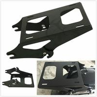 Motorcycle Black/Chrome Detachable 2 Up Tour Pak Pack Mounting Luggage Rack For Harley Touring Road King Glide FLHR FL 14 18
