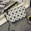 Nova Bolsa Das Mulheres Da Marca Designer de Moda Alta QualityPlaid Geometria Cadeia Saco Crossbody Saco de Ombro das Mulheres Sacos Do Mensageiro