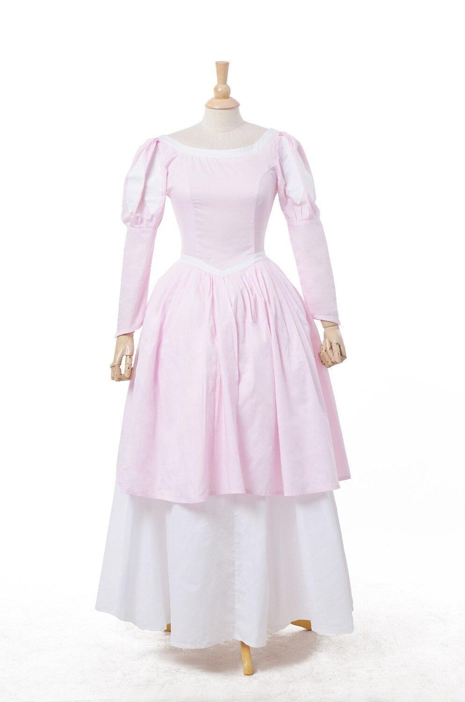 Ariel Pink Ball Gown Costume - Sqqps.com