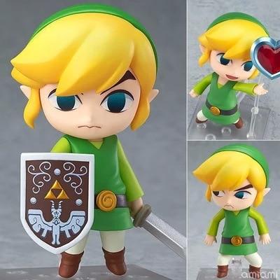 The Legend of Zelda Link Nendoroid Game Legend of Zelda PVC Action Figure 10CM Cute Ver. Zelda Link Collectible Model Toy Doll