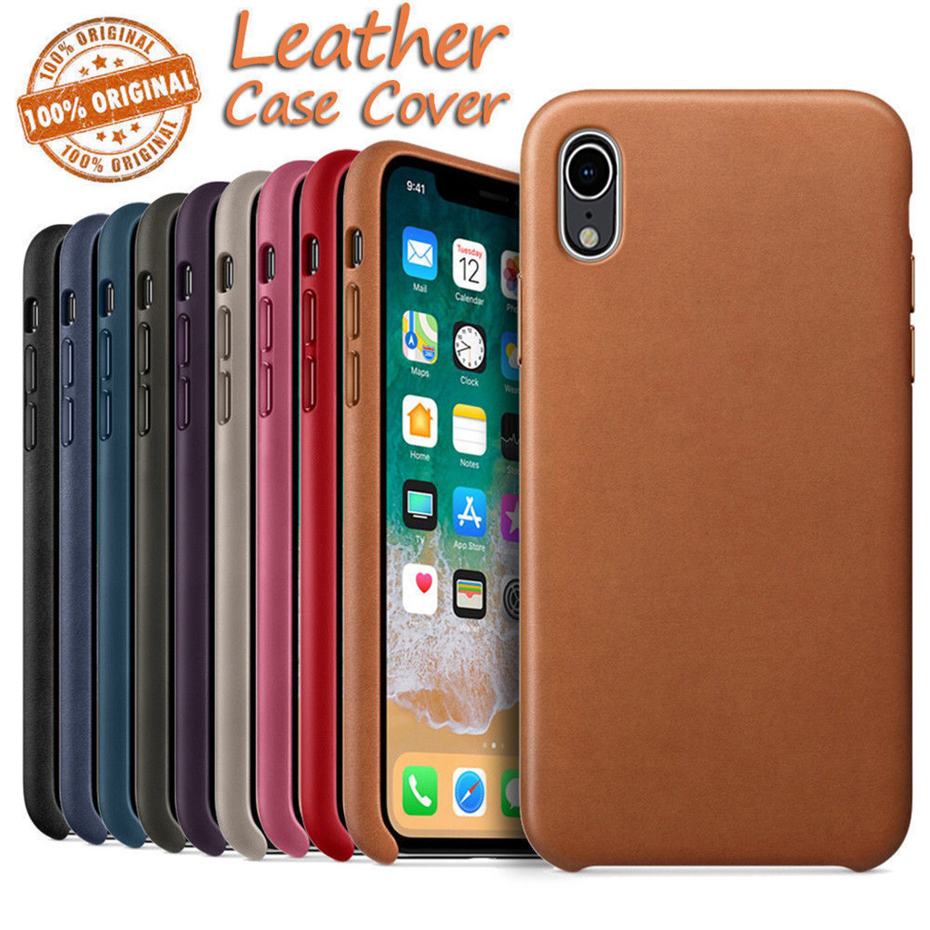 Leather Back Case Luxury Cover  For Apple IPhone XR 6.1inch  Slim & Smooth Phone Case Covers Dropship Nov.24-in Smart Accessories from Consumer Electronics