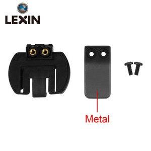 Frete grátis 1 PC Braçadeira De Metal Clipe Set Acessórios para Braçadeira LX-R6/R4/R3 1200 M Motocicleta Do Bluetooth capacete Interfone Interfone