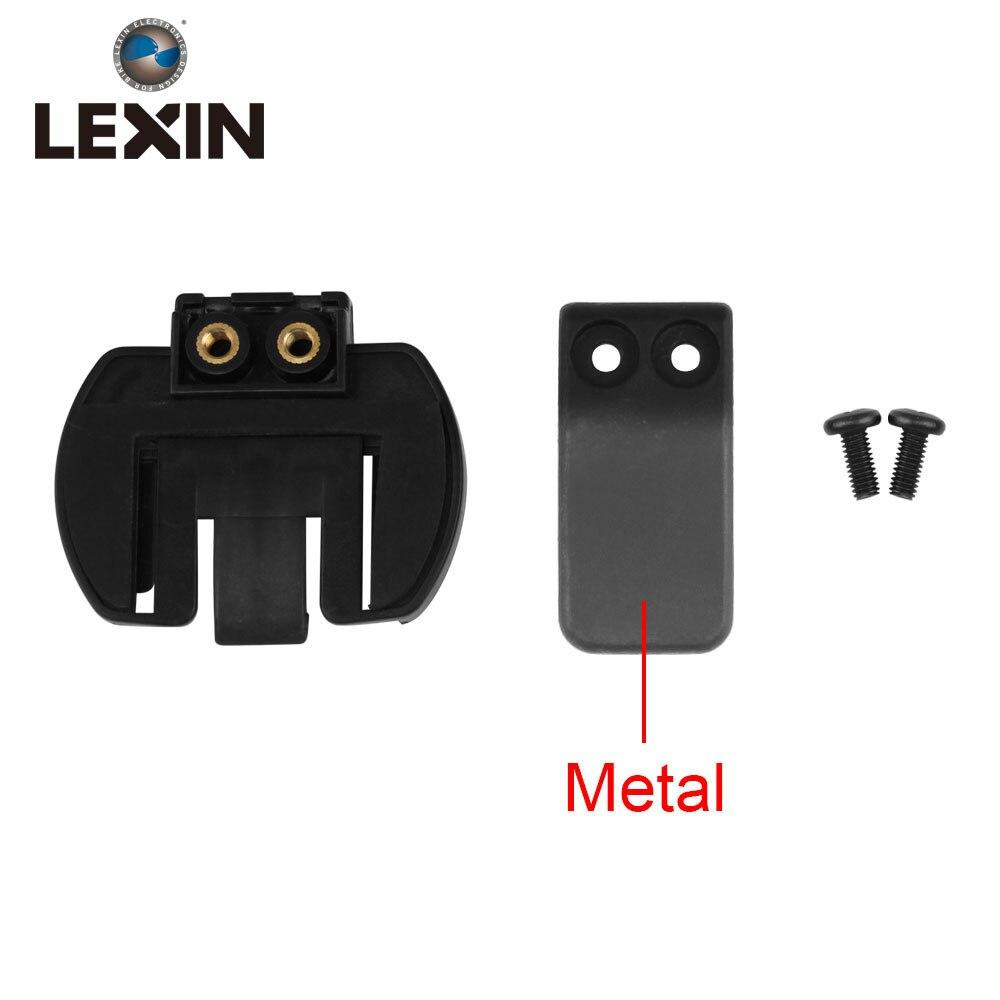 Kostenloser versand 1 STÜCK Metall Clip Clamp Set Zubehör für Klemm LX-R6/R4/R3 1200 Mt Motorrad Bluetooth helm Sprechanlage Intercom