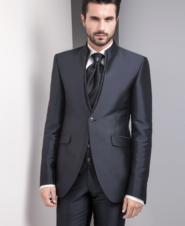 Popular Men Slim Suits 3 Piece Black-Buy Cheap Men Slim Suits 3 ...