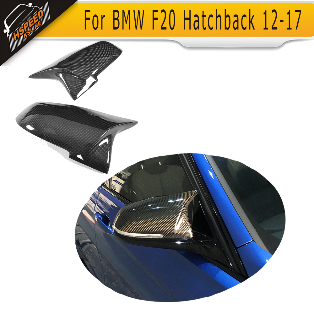 1 Series Carbon Fiber Side Car Mirror Covers Caps For BMW F20 Hatchback 12-17 Coupe 4 Door regular And M Sport LHD Non M 4 series replacement carbon fiber mirror covers caps shell for bmw f32 f33 2 door only 14 17 coupe m sport convertable lhd non m