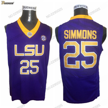 DUEWEER Mens Retro Ben Simmons College Basketball Jersey Purple 25 Ben  Simmons University Basketball Shirts Stitched ef1a8951f