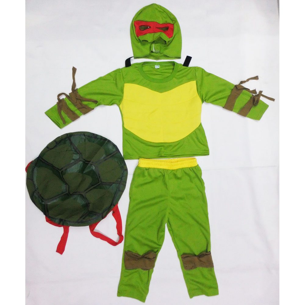 Kids Green Leo/Ninja Muscle Ranger Ben The Incredibles Costume Halloween Costume For Boy Party Cosplay Costume Clothing Set