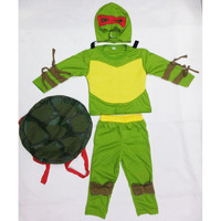 Green Kids Leo Ninja Muscle Costume Halloween Costume For 3 7 Years Boy Party Cosplay Costume