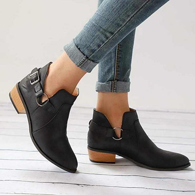 WENYUJH kadın botları 2019 bayanlar sivri botlar büyük boy moda giyim patik sonbahar ve kış ayakkabı Dropship
