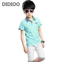 Boys Clothing Sets Cotton Striped T Shirts Shorts 2Pcs Summer School Children Outfits 6 7 9