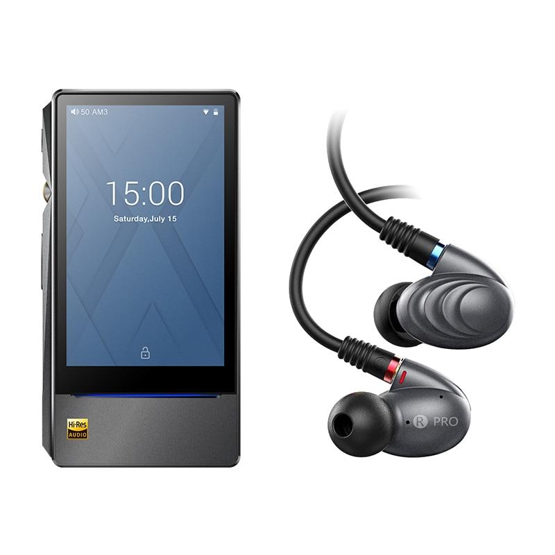 Paquete de venta de X7II + F9ro FiiO Android reproductor de música X7 II con equilibrio am3a con Triple conductor híbrido los auriculares en la oreja de F9PRO