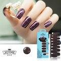 Esmalte de uñas Tira Púrpura Brillo Etiqueta Engomada Del Clavo 16 unids Clavo de La Cubierta Completa de Las Mujeres Decoración de La Manera
