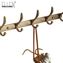 Envío gratis 1-8 colgador de pared gancho de latón antiguo de capa de bronce dorado gancho de pared para puerta accesorios de baño