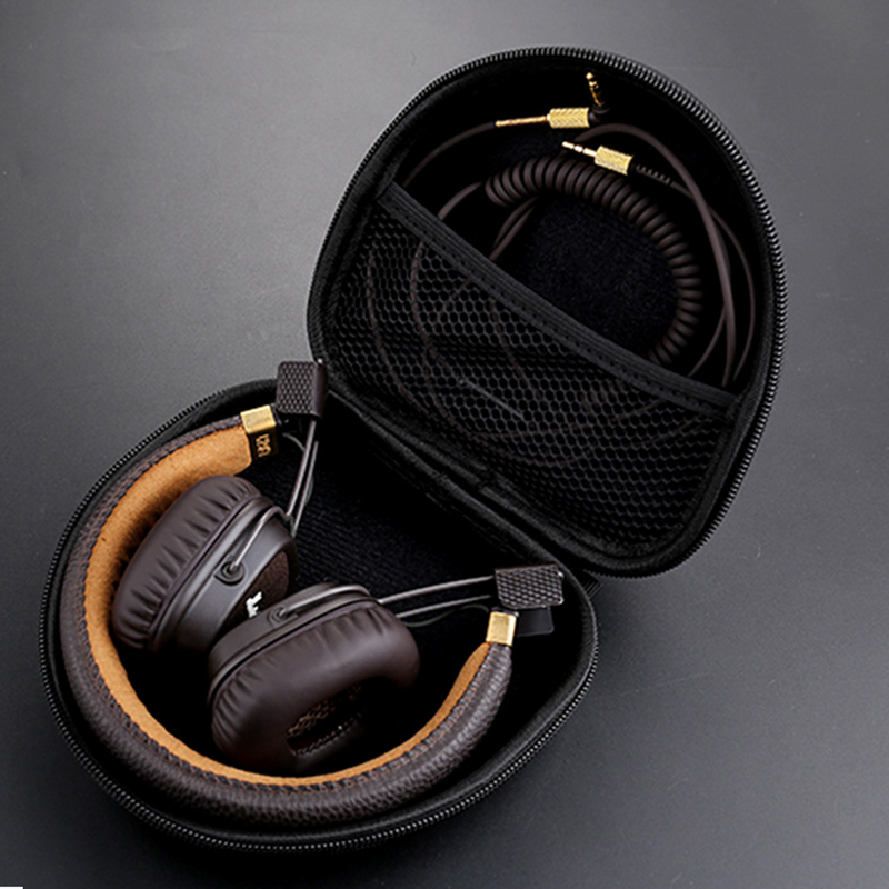 Mayitr Earphone Accessories 1pc Headphone Storage Case Ear Headphones Box Bag For Marshall Major ak kz case bag in ear earphone box headphones portable storage case bag headphone accessories headset storage bag