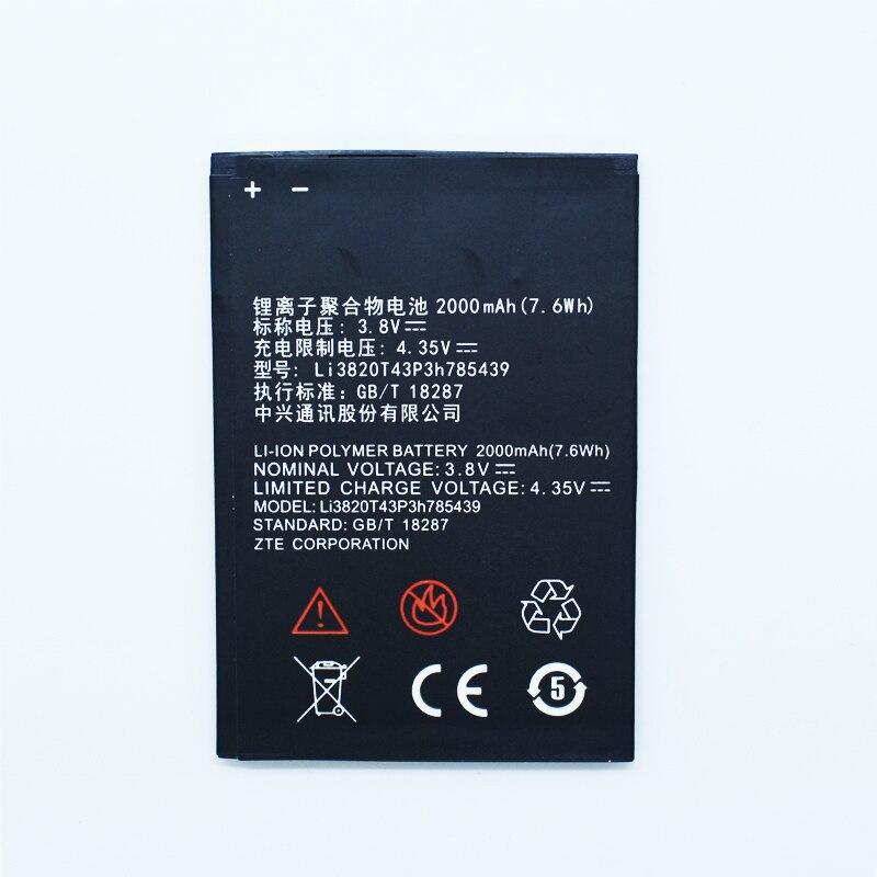 Hekiy Best New Mobile Phone Battery for ZTE Blade L3 Li3820T43P3h785439 3.8V 2000mAh For ZTE Blade L3 L 3 Battery Batteries