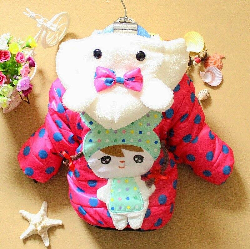 girls winter coat Cute little beauty dot velvet Children's clothing and jacket girl kids children outerwear