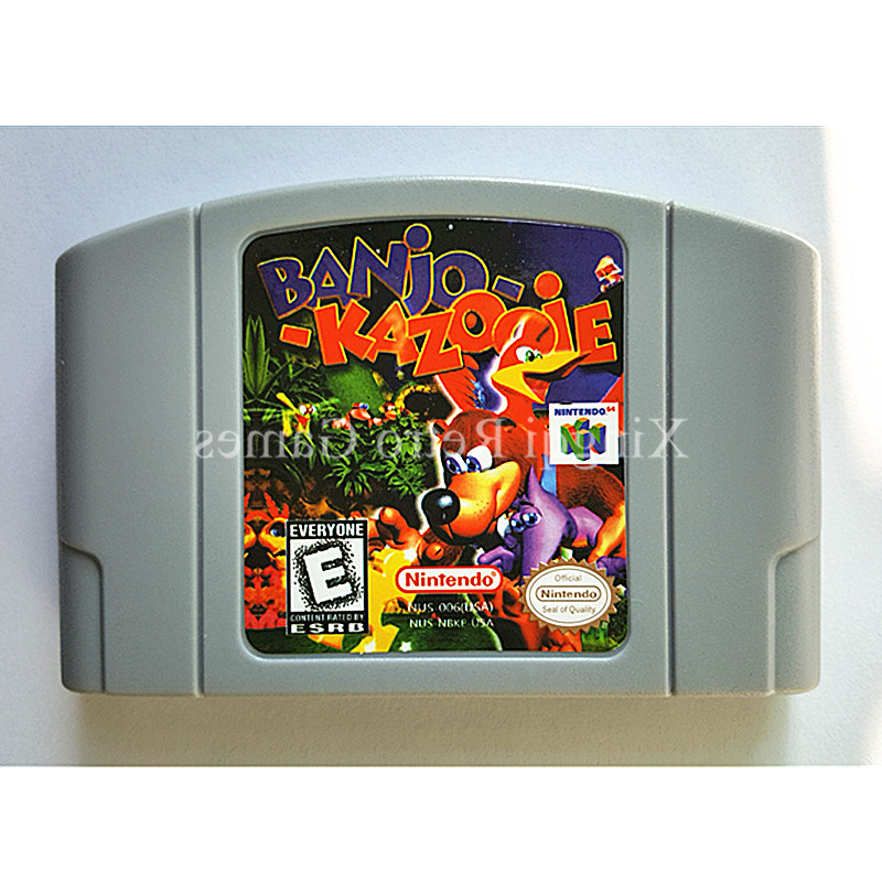 Nintendo 64 Tarjeta de Juego de Consola de Videojuego Cartucho de Banjo Kazooie