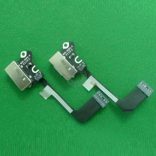 """Retina for macbook pro retina A1502 13"""" Magsafe  power  Jack Board Flex Cable small plate 802-3584-A power head"""