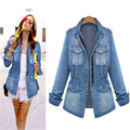 NEW Fashion Star Models the Old Wild Slim Washed Denim Jacket Coat for Women Girl CJ132