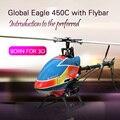 Águia mundial 450C 6CH helicóptero RC com Flybar RTG / RTF avião de acrobacias 3D para novo jogador RC começando