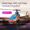 Global Eagle 450C 6CH RC Helicopter with Flybar RTG/RTF Aircraft 3D Stunt for New Player RC beginning