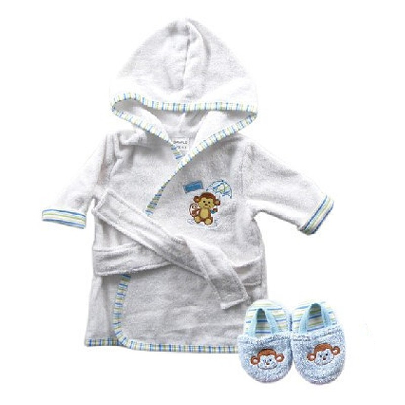 New Design Cotton Warm Baby Bath Robes Child Cartoon Baby Towel Character Kids Bath Towel Infant Hooded Towel Set (1)